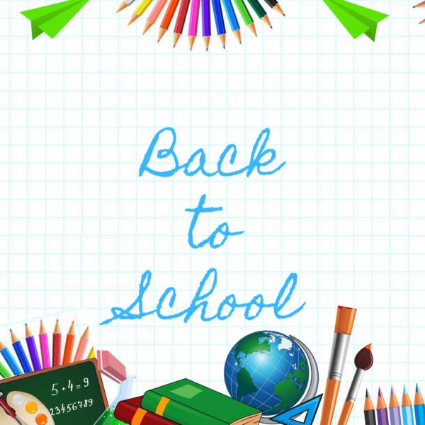 Back to school cartoon image
